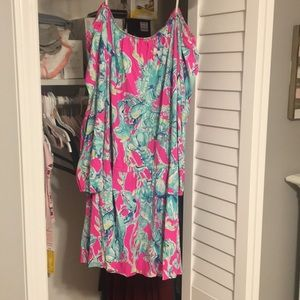 Lilly Pulitzer dancing with lobsters romper